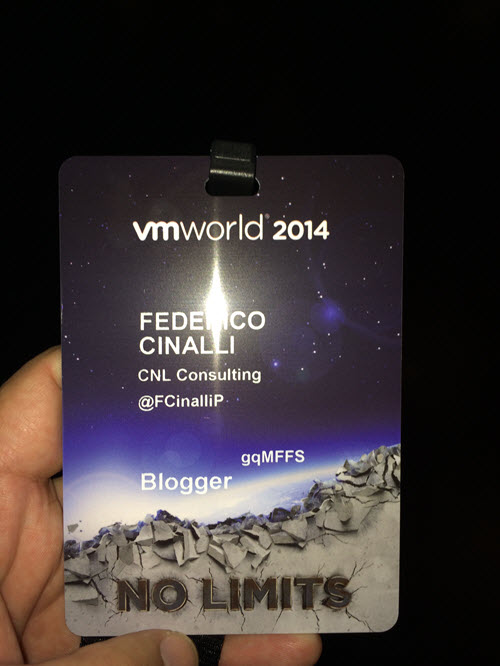 Mi Blogger Pass VMworld 2014