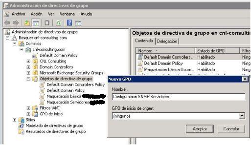 GPO Configuracion SNMP