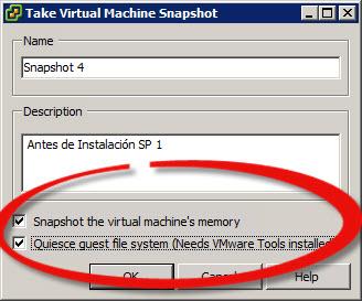 Todo sobre los Snapshots en VMware