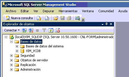 SQL Server 2008 Express para vCenter