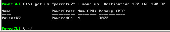 vMotion con PowerCLI